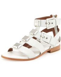 Donald J Pliner Lexi Widestrap Gladiator Sandal Foam Ivory - Lyst