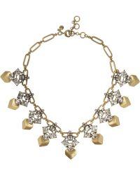 J.Crew - Goldtone Crystal Necklace - Lyst