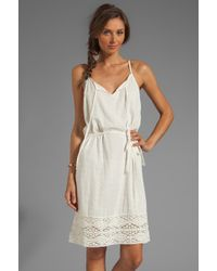 Velvet By Graham & Spencer Jo Sheer Dobby Lace Dress in Ivory - Lyst
