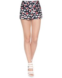 RED Valentino Leopard-Print Brocade Shorts - Lyst