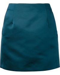 Acne Studios Green Kyte Skirt - Lyst