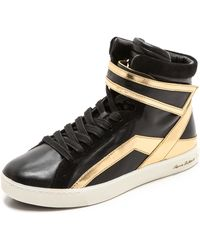Pierre Balmain High Top Sneakers  Blackgold - Lyst