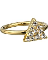 Elizabeth And James Gold Valencia Ring - Lyst