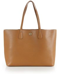 Tory Burch Perry Leather Tote - Lyst