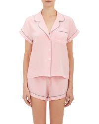 Steven Alan - Women's Crepe De Chine Pajama Shirt - Lyst