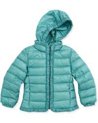 Moncler Mayotte Long Season Packable Jacket Turquoise Sizes 26 - Lyst