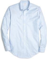 Brooks Brothers Non-Iron Regent Fit Stripe Sport Shirt - Lyst