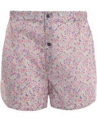 Liberty - Pink Cotton Boxer Shorts - Lyst