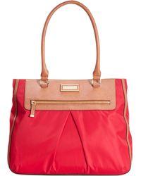 Calvin Klein Red Nylon Tote - Lyst