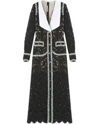 Alessandra Rich Lace Organza Dress black - Lyst