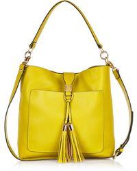 River Island Yellow Tassel Front Slouchy Handbag - Lyst