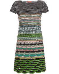 Missoni Layer Knit Cap Slv Shot Dress - Lyst