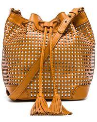 Twelfth Street Cynthia Vincent Addison Bucket Bag brown - Lyst
