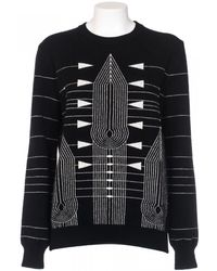 Givenchy Sweater Black Wool And Cashmere Printed gray - Lyst