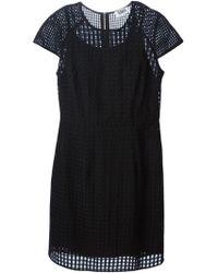 Sonia by Sonia Rykiel Sheer Check Shift Dress - Lyst
