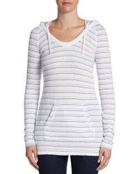 James Perse Striped Raglan Hoodie - Lyst