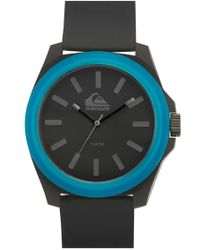 Quiksilver - 'the Fader' Silicone Strap Watch - Lyst