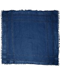 Gucci Blue Square Scarf - Lyst