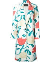 Thakoon Floral-printed Silk-blend Coat - Lyst