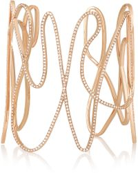 Repossi - White Noise 18-karat Rose Gold Diamond Cuff - Lyst