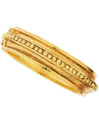 Jose & Maria Barrera Medallion Bangle With Pave Crystals - Lyst