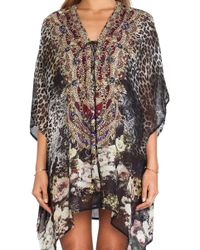 Camilla Short Lace Up Kaftan - Lyst