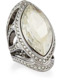 St. John - Marquise Crystal Cocktail Ring - Lyst