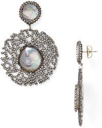 Roni Blanshay - Cultured Freshwater Pearl Drop Earrings - Lyst