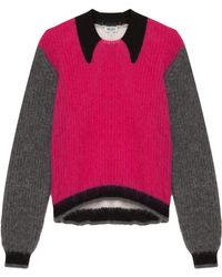 Kenzo Mohair Sweater with Mock Collar - Lyst