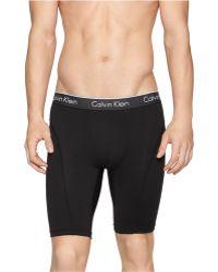Calvin Klein Air Microfiber Cycle Shorts black - Lyst