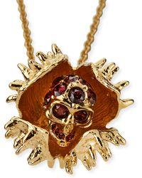 Alexander McQueen Chestnut  Crystal Skull Necklace - Lyst