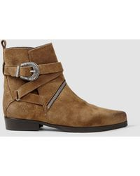 AllSaints Tejus Zip Boot brown - Lyst