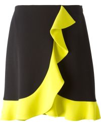 MSGM Black Ruffle Skirt - Lyst