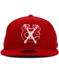 New Era Chicago Blackhawks C-Dub 59Fifty Cap - Lyst