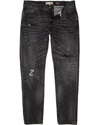 River Island Black Distressed Flynn Skinny Jeans - Lyst