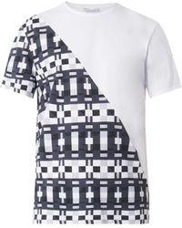 Balenciaga Split Domino-Print T-Shirt - Lyst