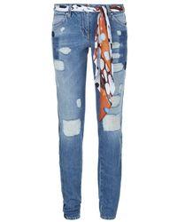 Roberto Cavalli Distressed Skinny Jeans - Lyst