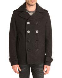 Diesel Wchamp Raincoat with Grey Denim Finishings - Lyst