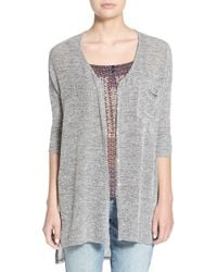 Lush - Button Front Knit Tunic - Lyst