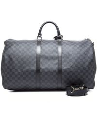 Louis Vuitton Pre-owned Damier Graphite Keepall 55 Bag - Lyst
