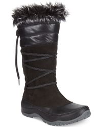 The North Face Womens Jozie Purna Faux-fur Boots - Lyst