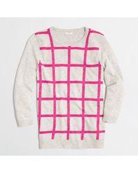 J.Crew Factory Windowpane Shimmer Sweater - Lyst