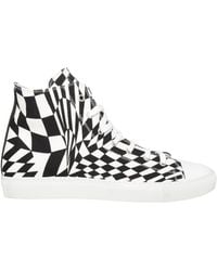 Gareth Pugh Mens Scarpa Geometric Print High Top Sneaker Blackwhite - Lyst