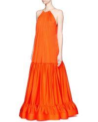 Stella McCartney | 'cassie' Beaded Pleat Silk Maxi Dress | Lyst