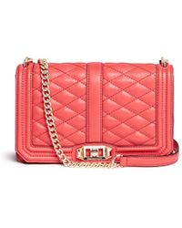 Rebecca Minkoff 'Love' Quilted Leather Crossbody Bag - Lyst