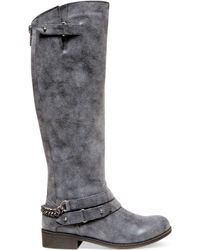 Madden Girl Caanyon Tall Shaft Wide Calf Riding Boots - Lyst
