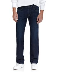 7 For All Mankind Luxe Performance: Austyn Relaxed Straight-Leg Jeans blue - Lyst