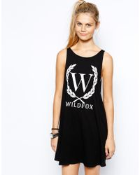 Wildfox Tank Dress with Crest Logo - Lyst