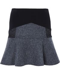 Vanessa Bruno Athé Betsy Contrast Skirt - Lyst