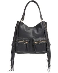 Big Buddha - Fringe Faux Leather Expandable Tote - Lyst